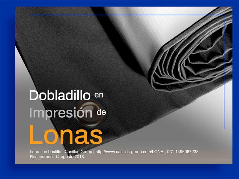 Dobladillo en Impresión de Lonas