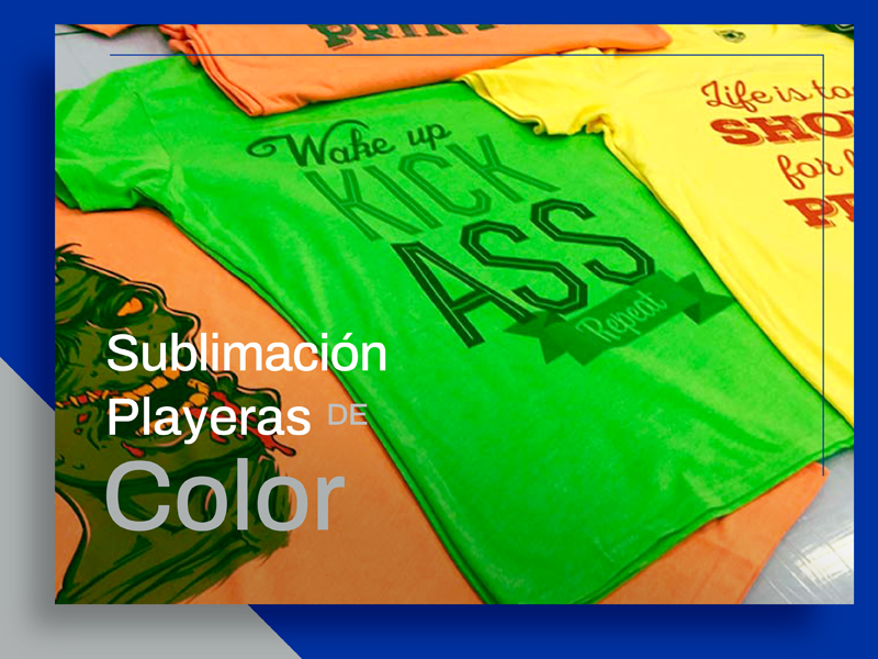 Sublimación en Tela para Playeras de Color