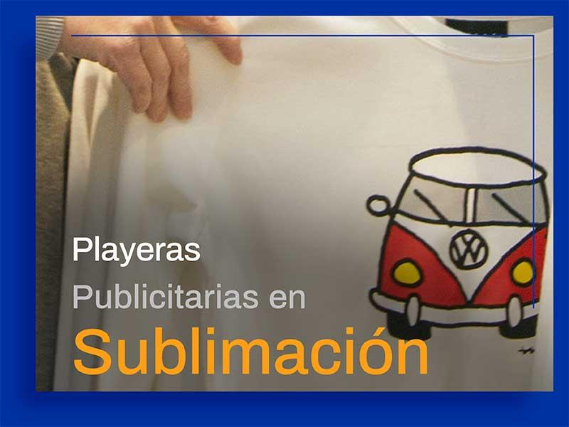 Playeras Publicitarias en Sublimación.