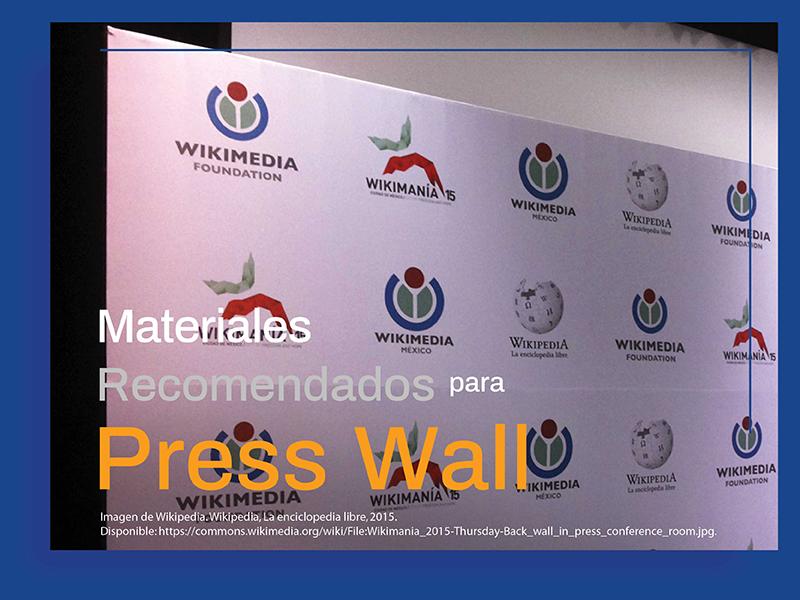 Materiales en Impresión de Back de Prensa.
