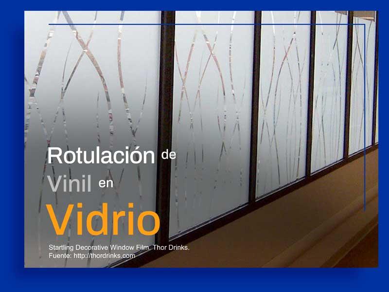 Rotulación de Vidrio con Vinil Adhesivo