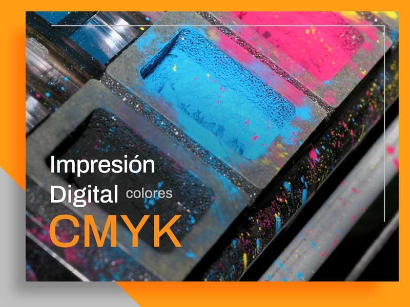 Colores CMYK en la Impresión Digital.